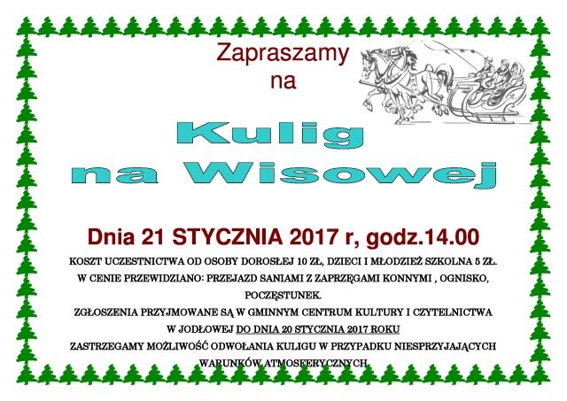 Gmina Jodłowa Zaproszenie Na Kulig